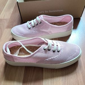 Soludos platform mesh blossom pink sneakers new